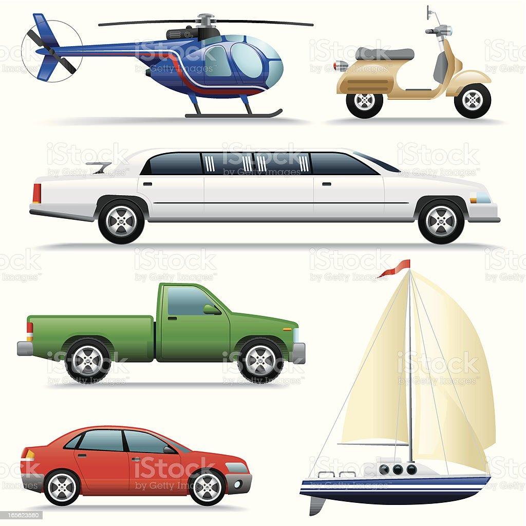 Icon Set, Transport vector art illustration