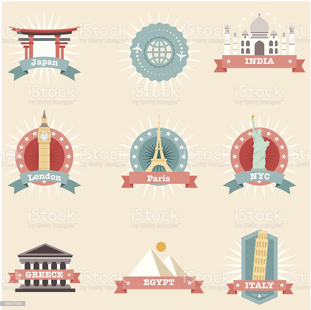 Icon Set, Travel Concepts royalty-free stock vector art