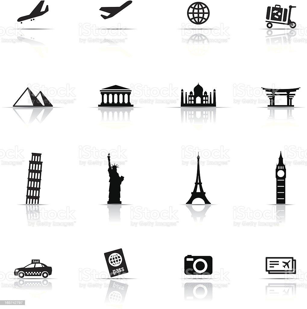 Icon Set, Travel items vector art illustration