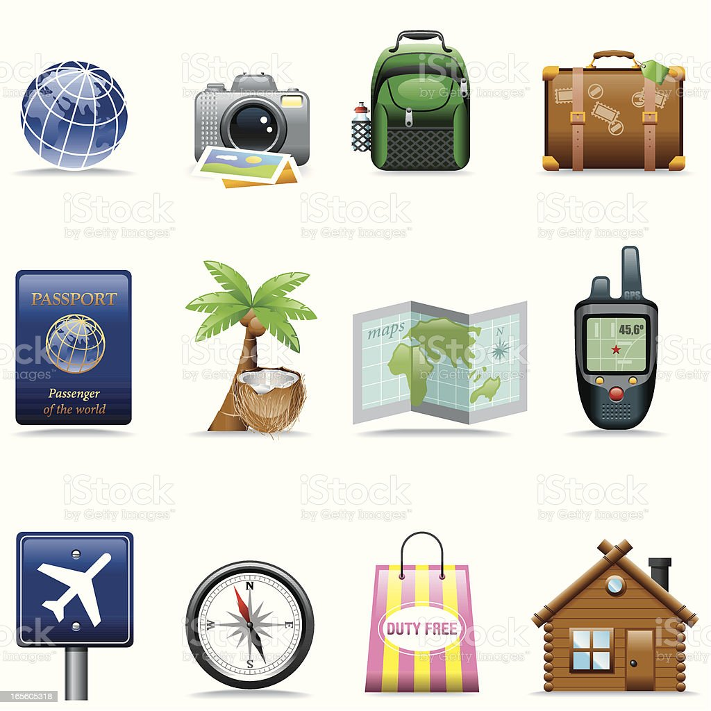 Icon Set, Travel royalty-free stock vector art