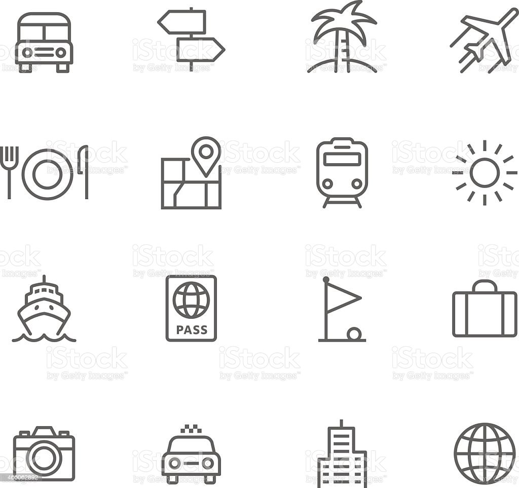 Icon Set, Travel vector art illustration