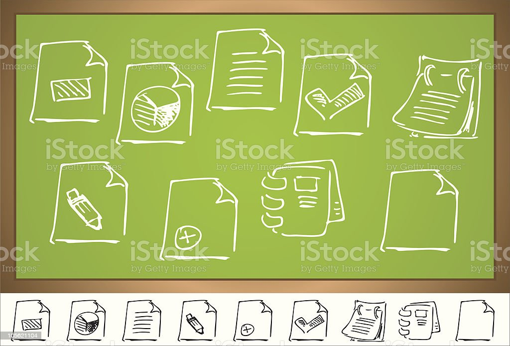 icon set royalty-free stock vector art