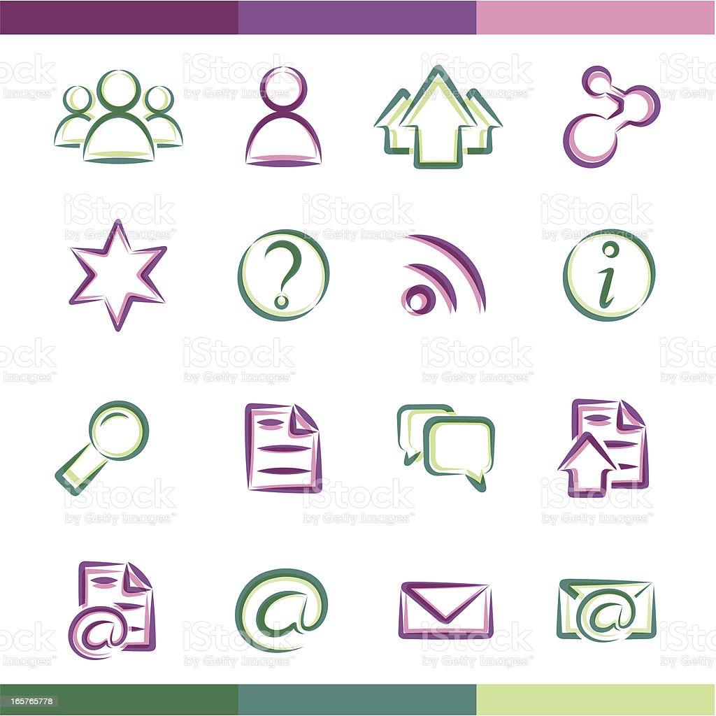 Icon set royalty-free stock vector art