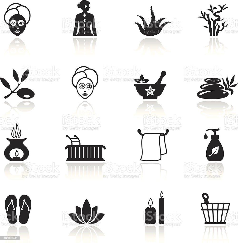 SPA icon set royalty-free stock vector art