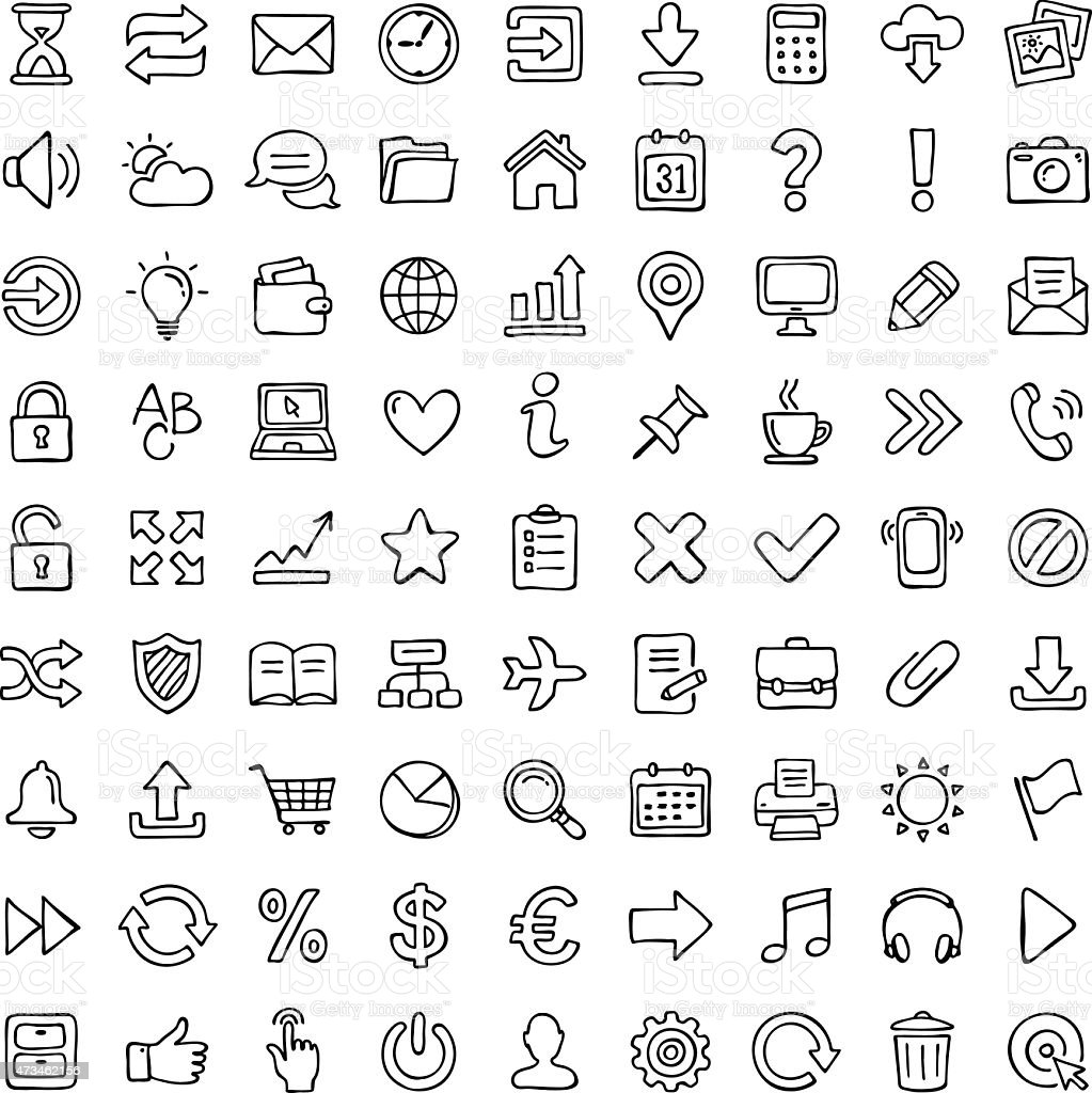 Icon set. vector art illustration