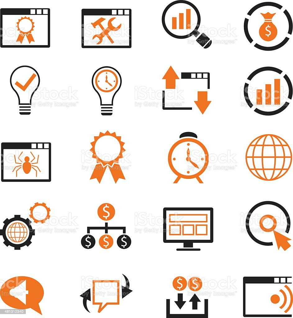 SEO icon set vector art illustration