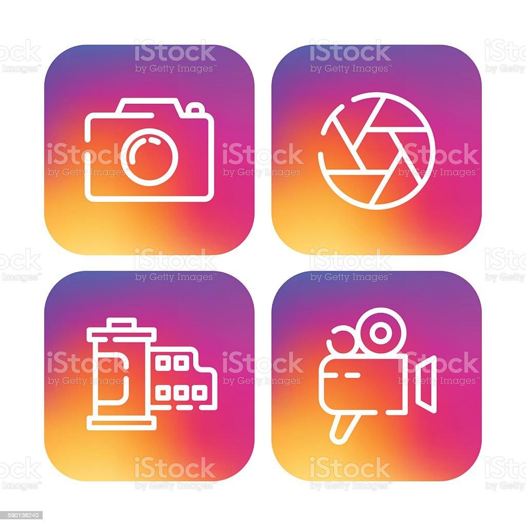 Icon Set vector art illustration