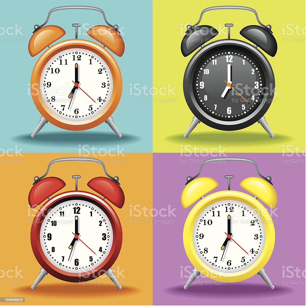 Icon Set, Watches royalty-free stock vector art