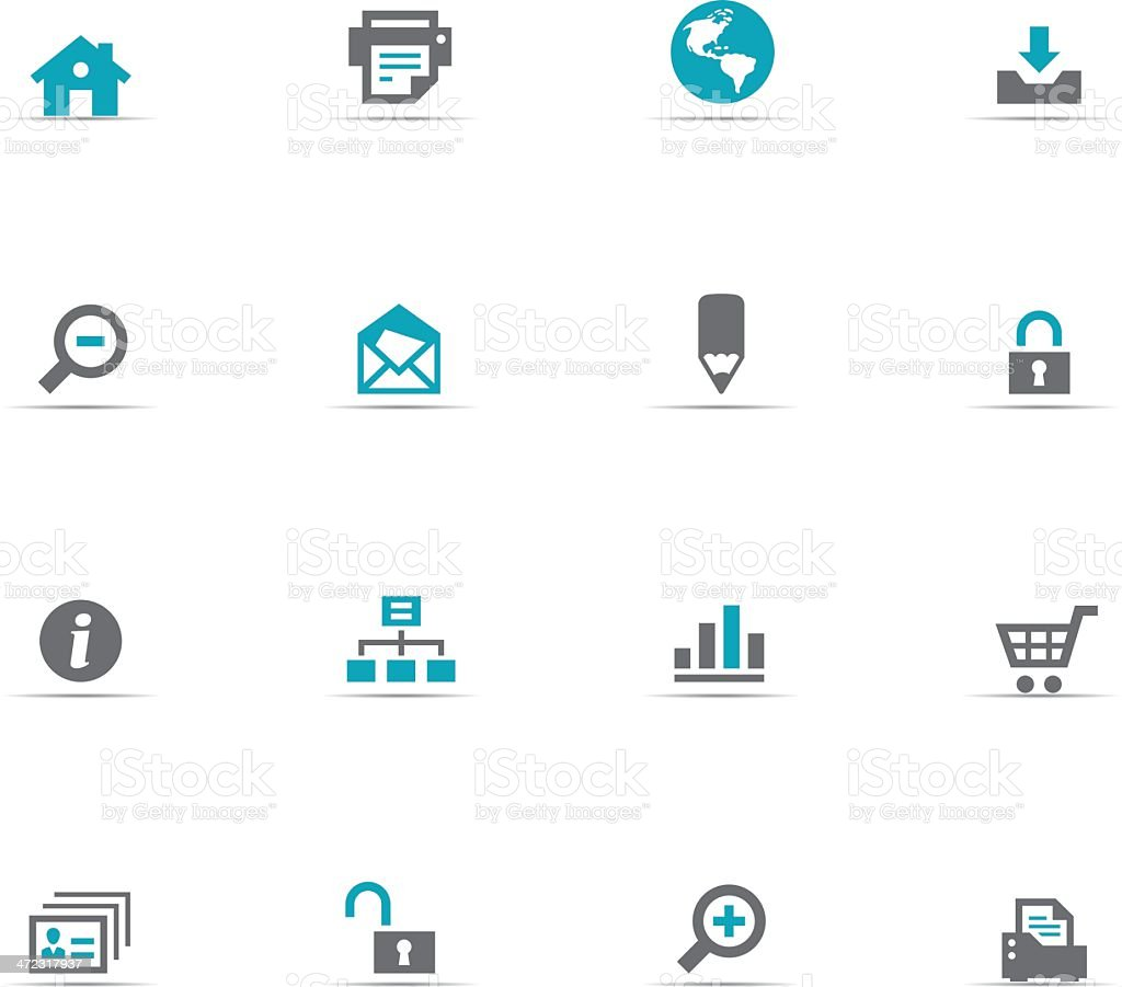 Icon Set, Web buttons royalty-free stock vector art