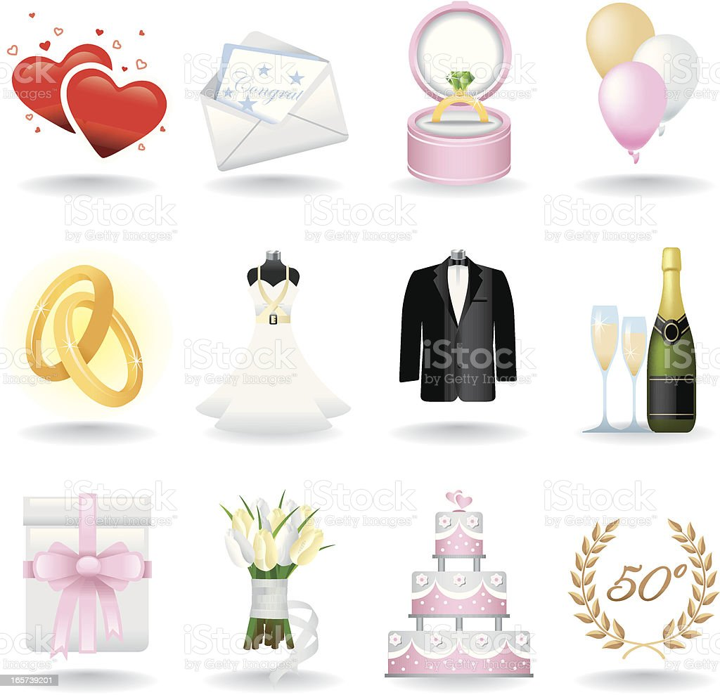 Icon Set, Wedding royalty-free stock vector art
