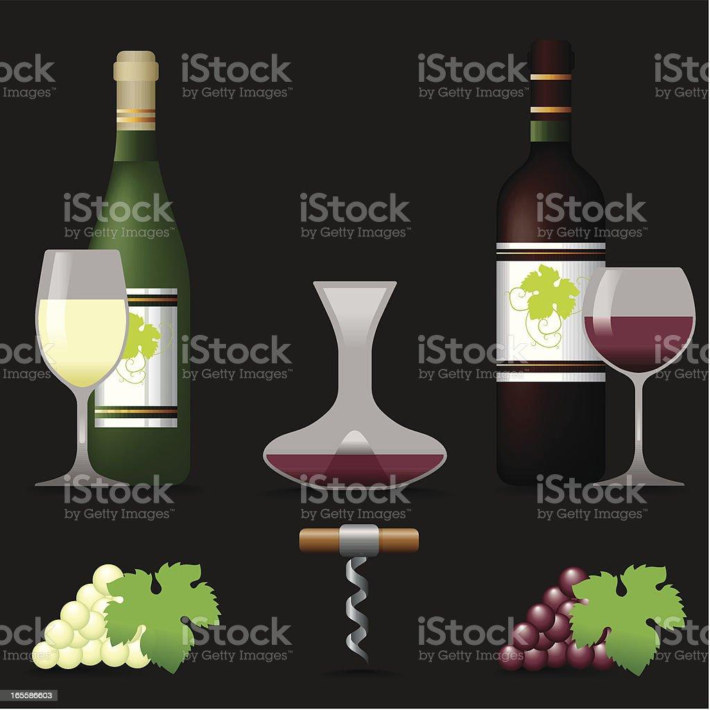 Icon Set, Wine royalty-free stock vector art