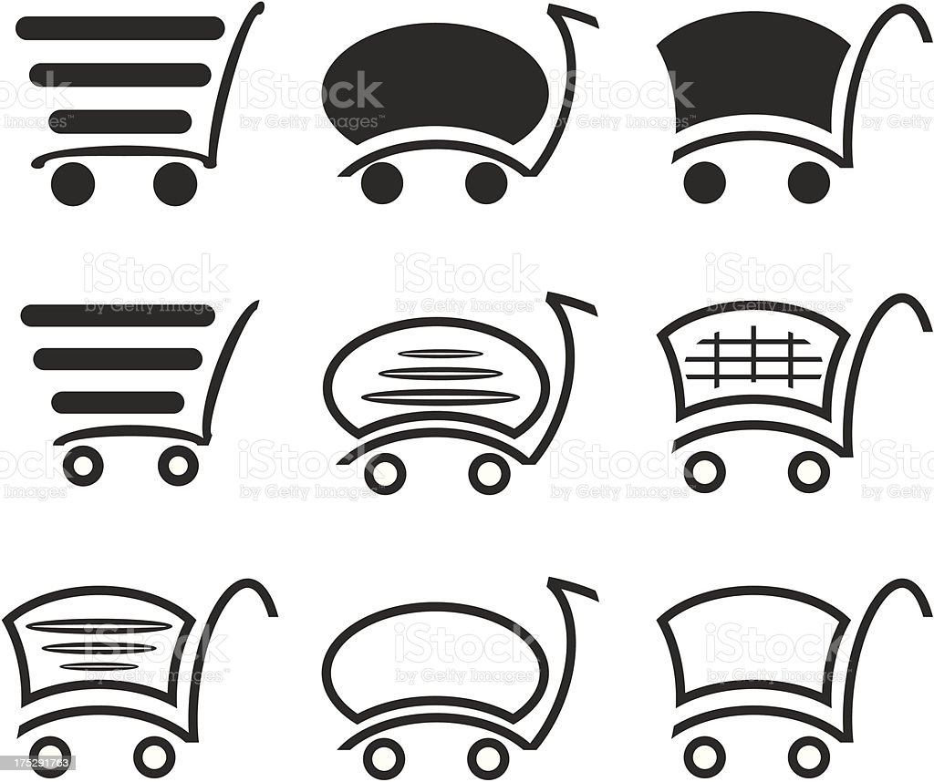 Icon set with for a  shopping. royalty-free stock vector art