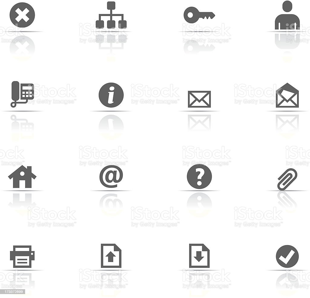 Icon set with web buttons for desktop vector art illustration