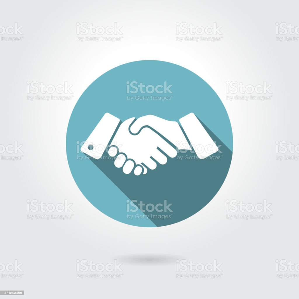 icon shaking hands vector art illustration
