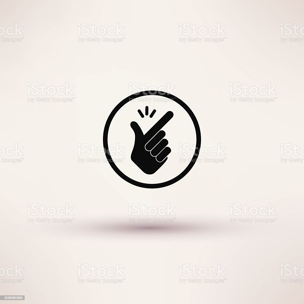 Icon - snap of the fingers. Vector illustrations. vector art illustration