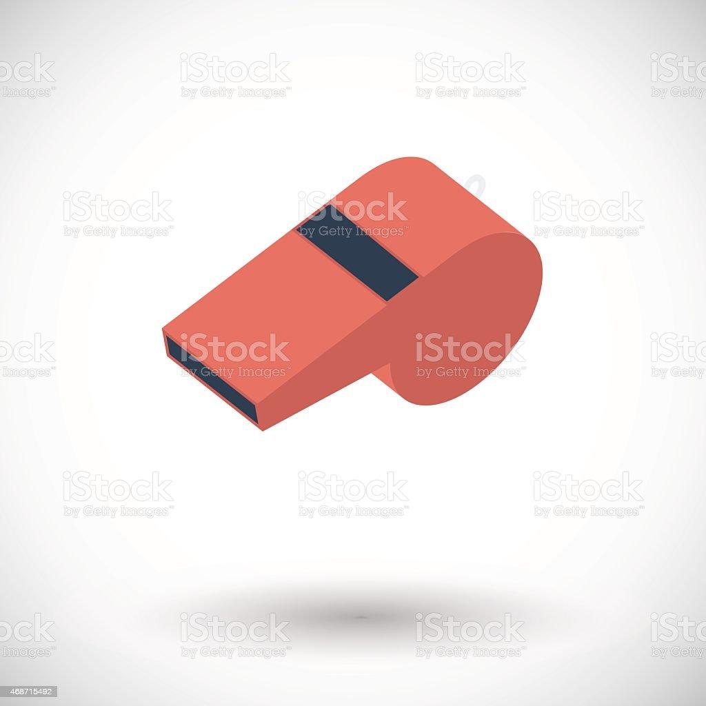 Icon sports whistle vector art illustration