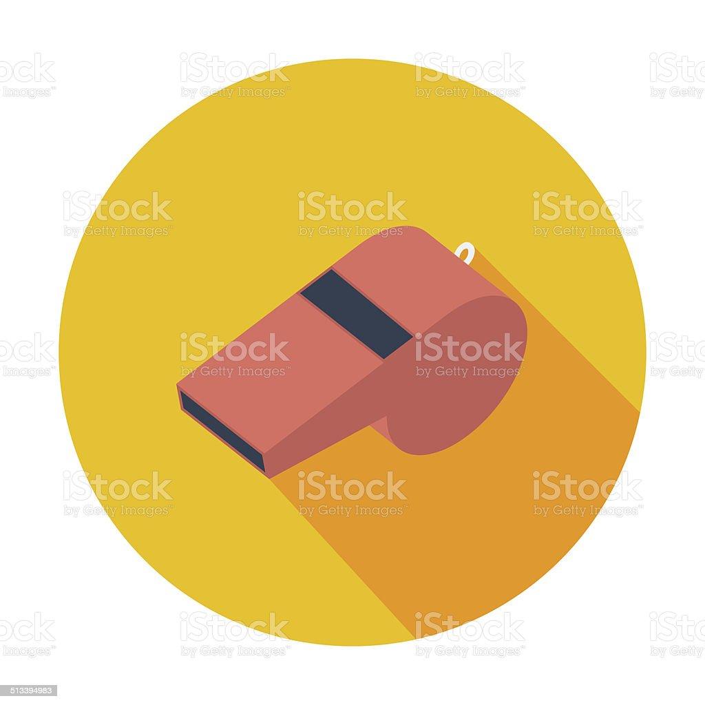Icon sports whistle. vector art illustration