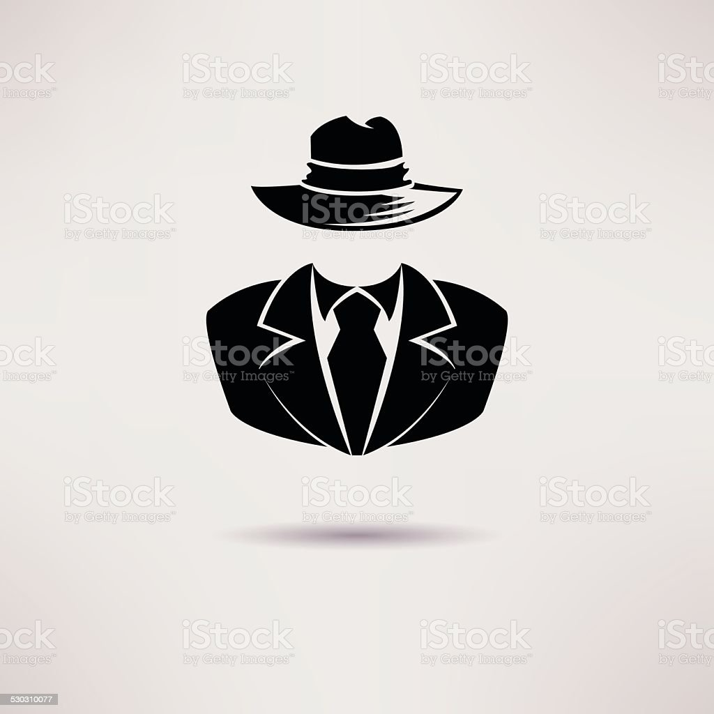 Icon spy, secret agent, the mafia Vector icon. vector art illustration