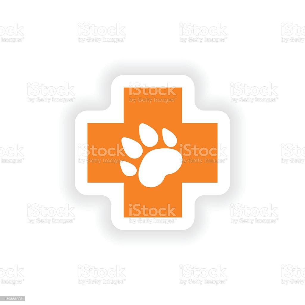 icon sticker realistic design on paper Veterinary vector art illustration