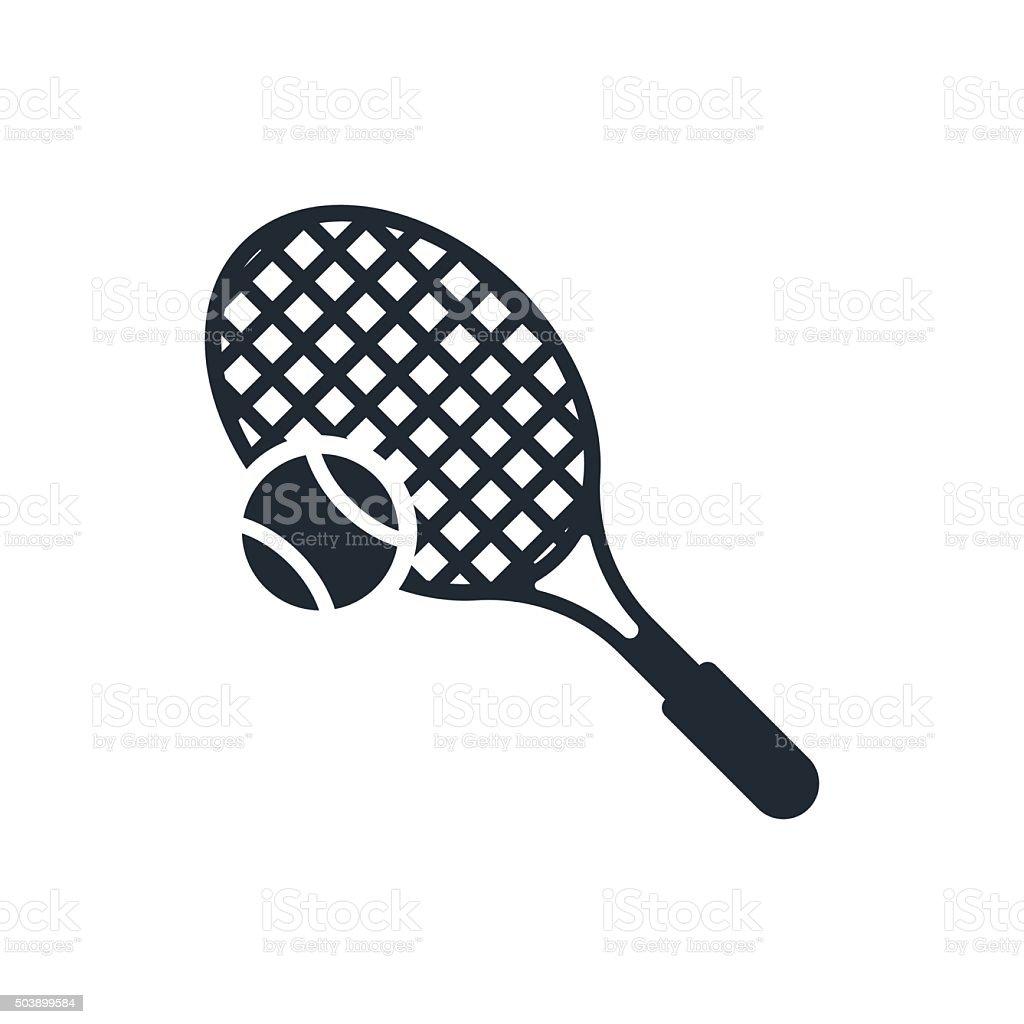 icon tenis vector art illustration