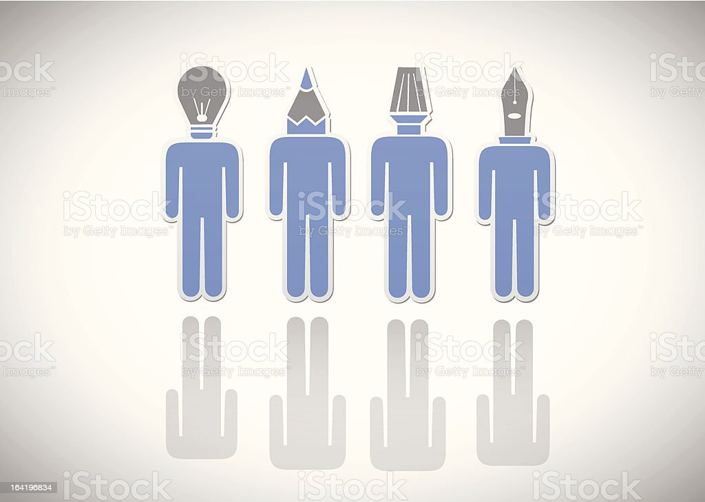 Icon. Tools-head royalty-free stock vector art