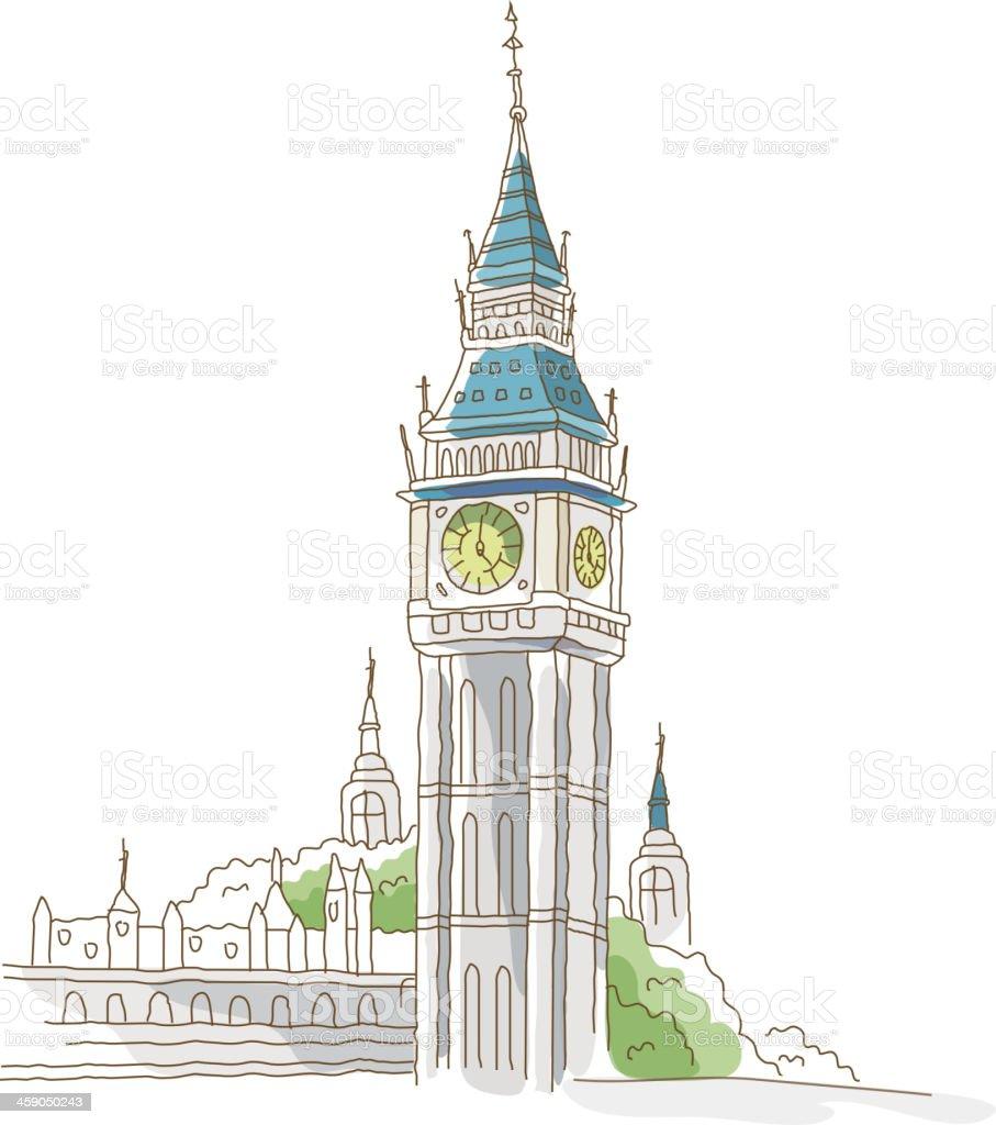 icon tower vector art illustration