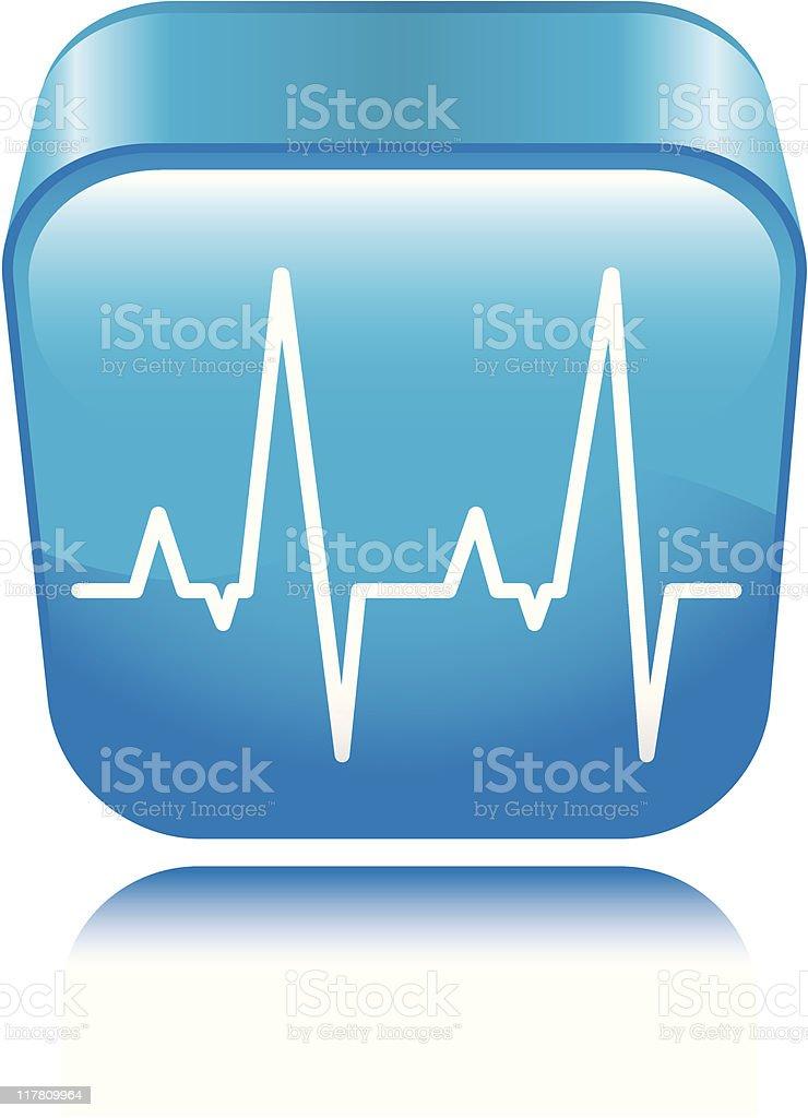 EKG Icon vector art illustration