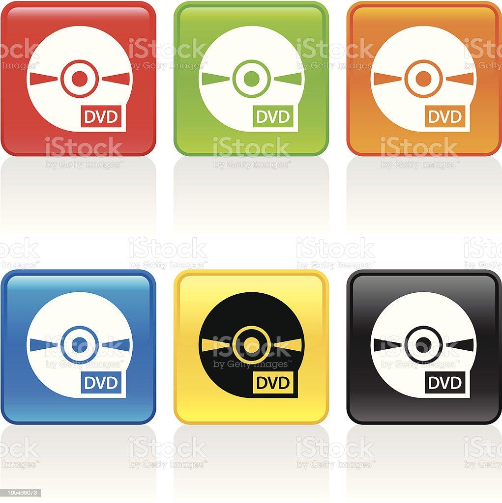 DVD Icon vector art illustration