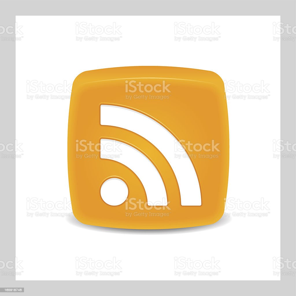 RSS Icon. royalty-free stock vector art
