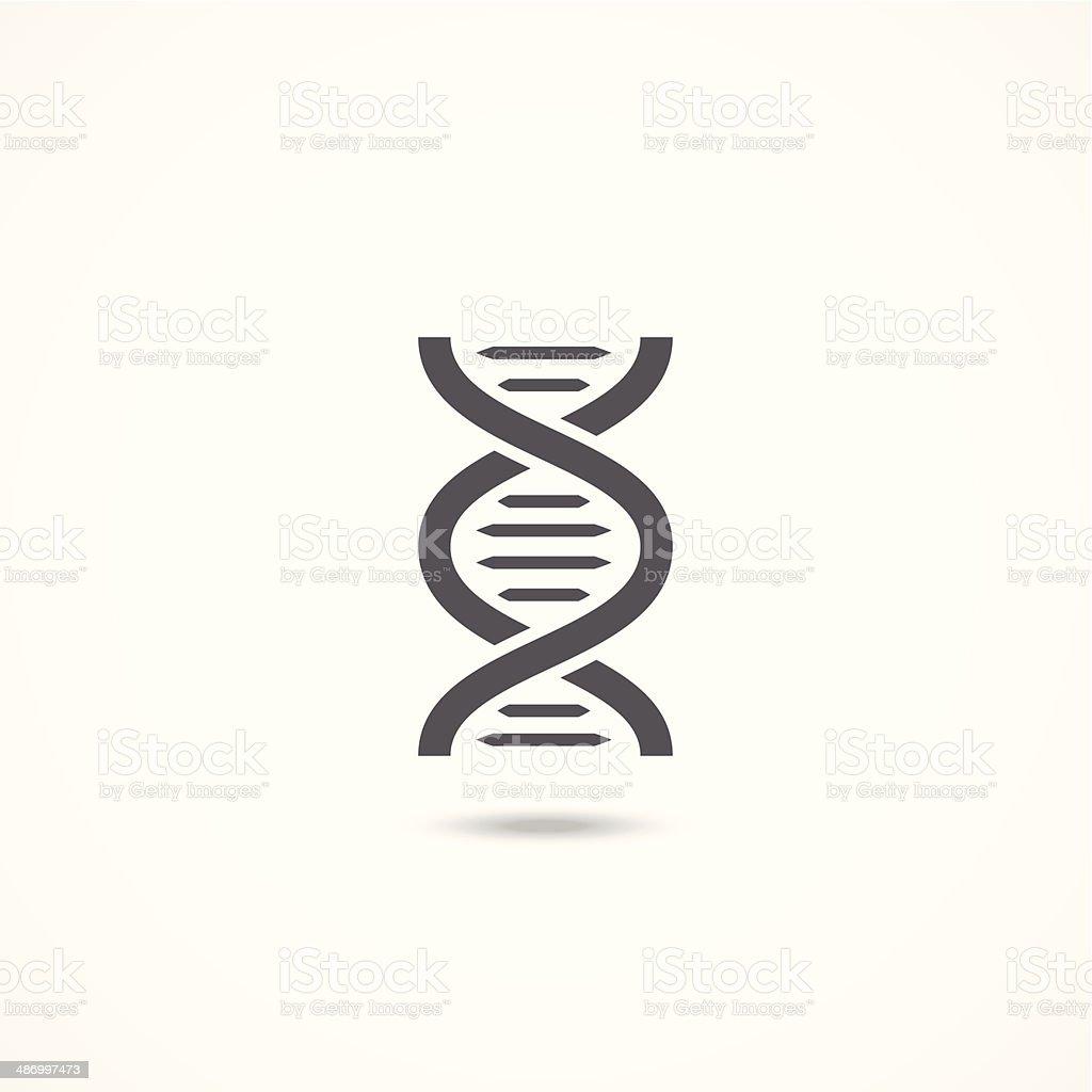 DNA icon vector art illustration