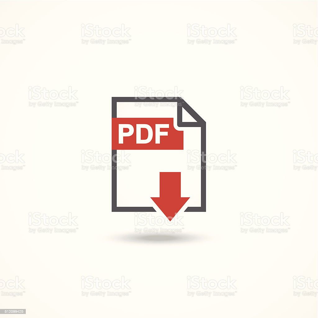 PDF icon vector art illustration