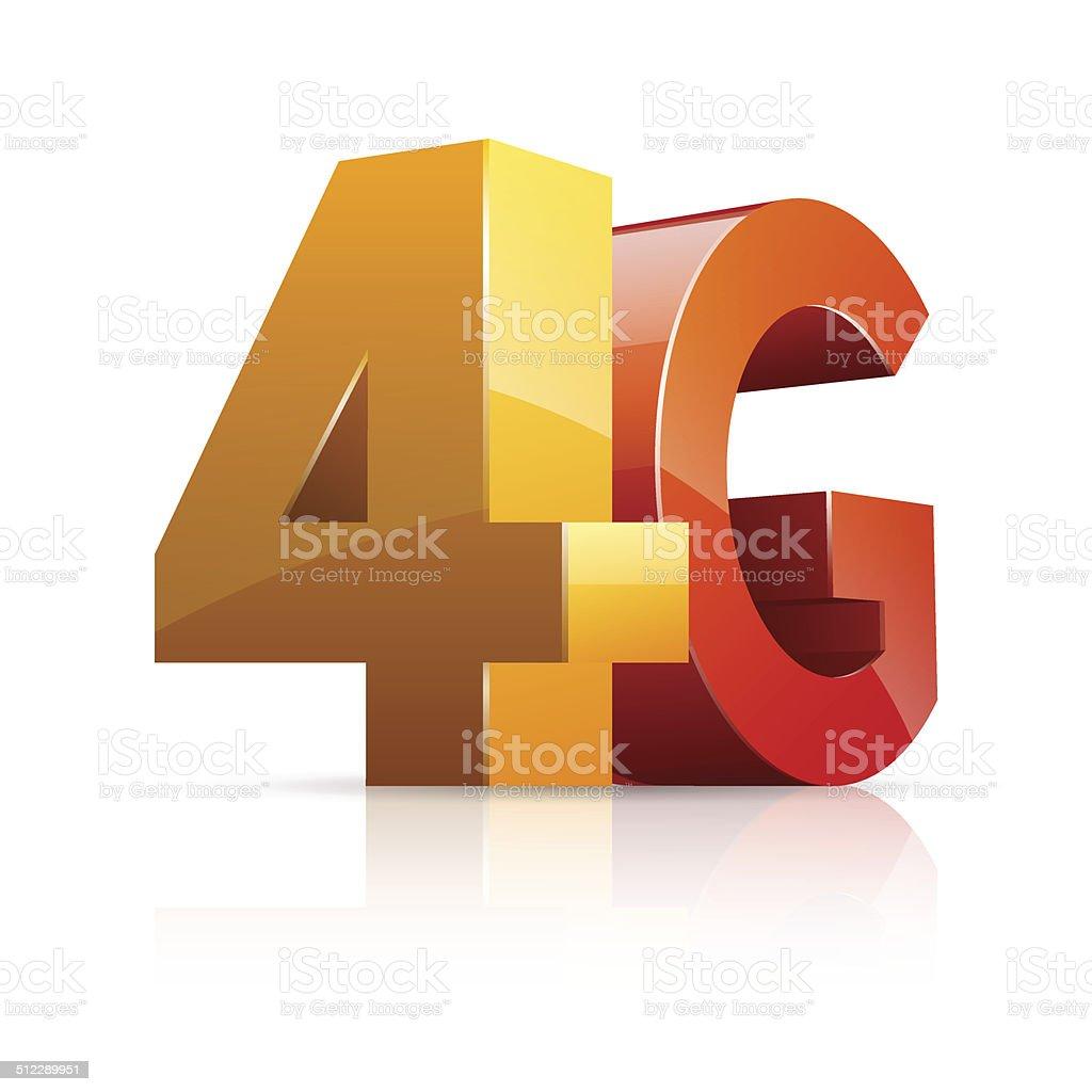 4G Icon. vector art illustration