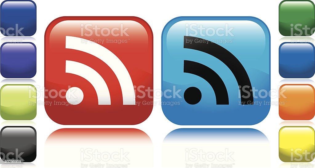 RSS Icon royalty-free stock vector art