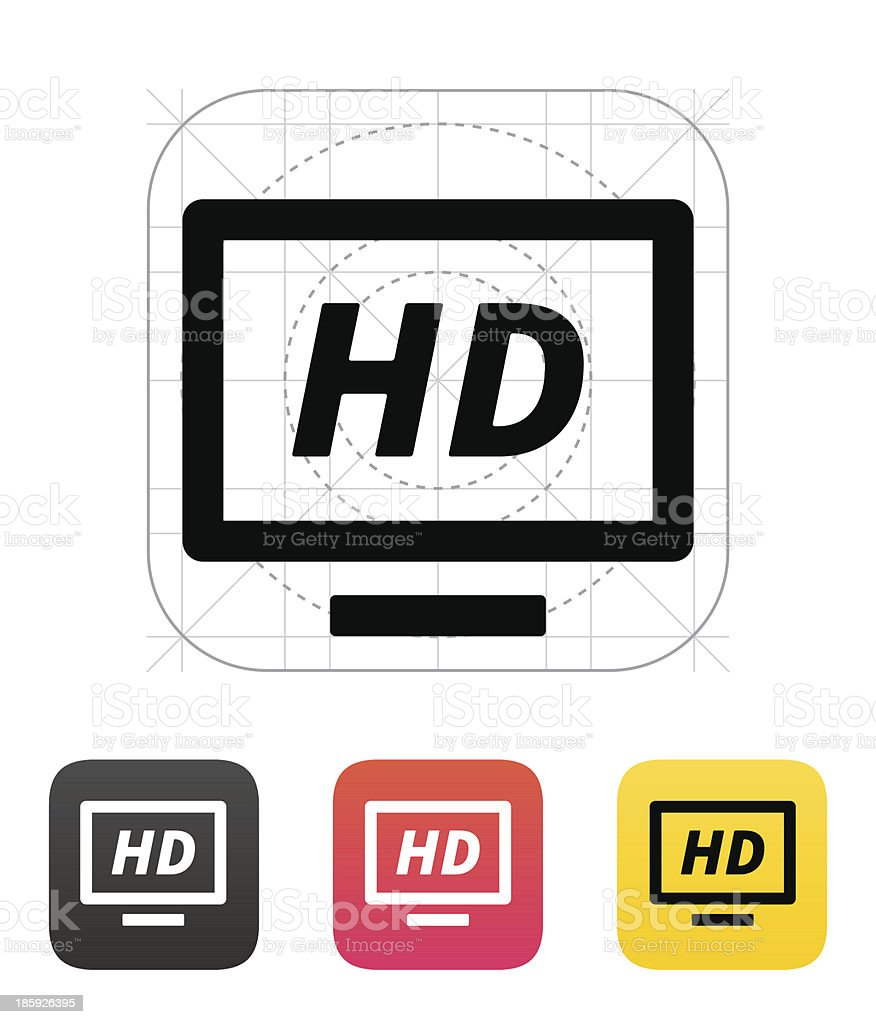 TV icon. Vector illustration. royalty-free stock vector art