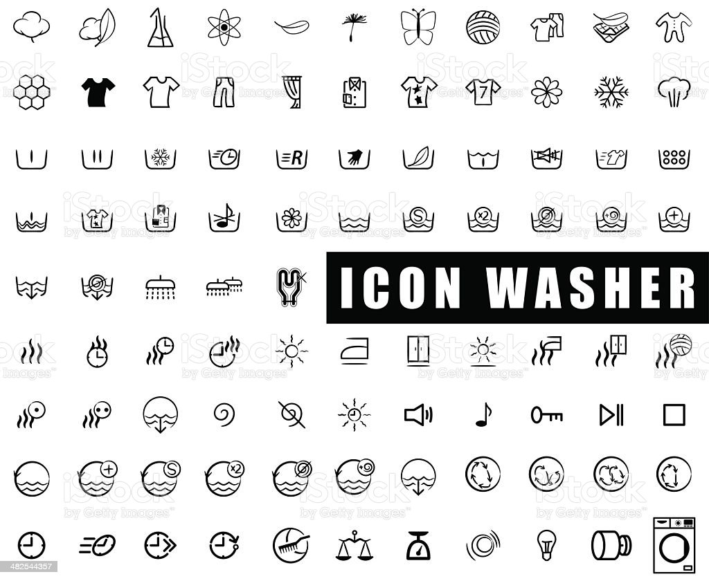 Icon washer vector art illustration