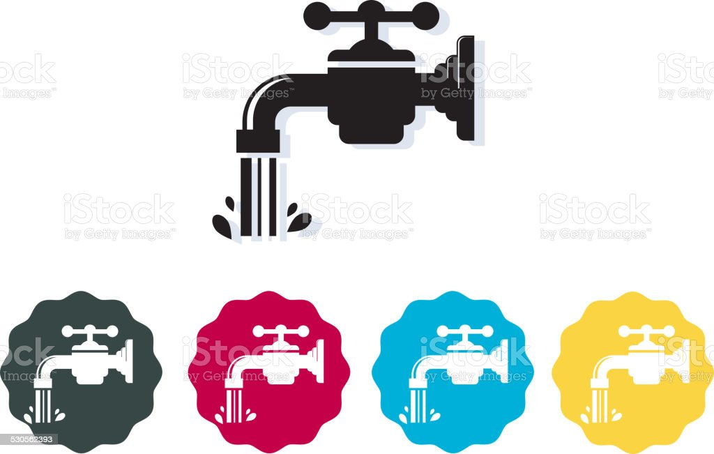 Icon - Water Conservation vector art illustration