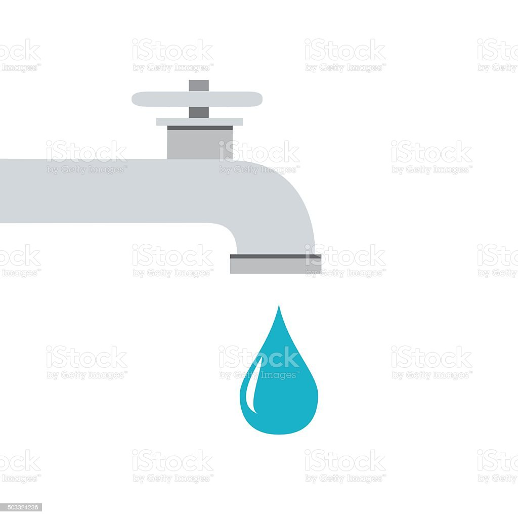 Icon water tap vector art illustration
