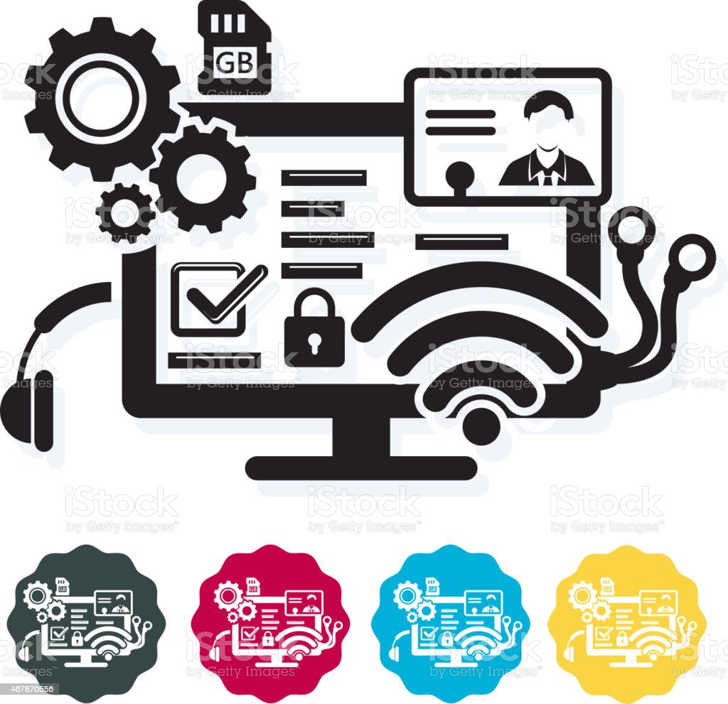 Icon - Web Application Development  - Illustration vector art illustration