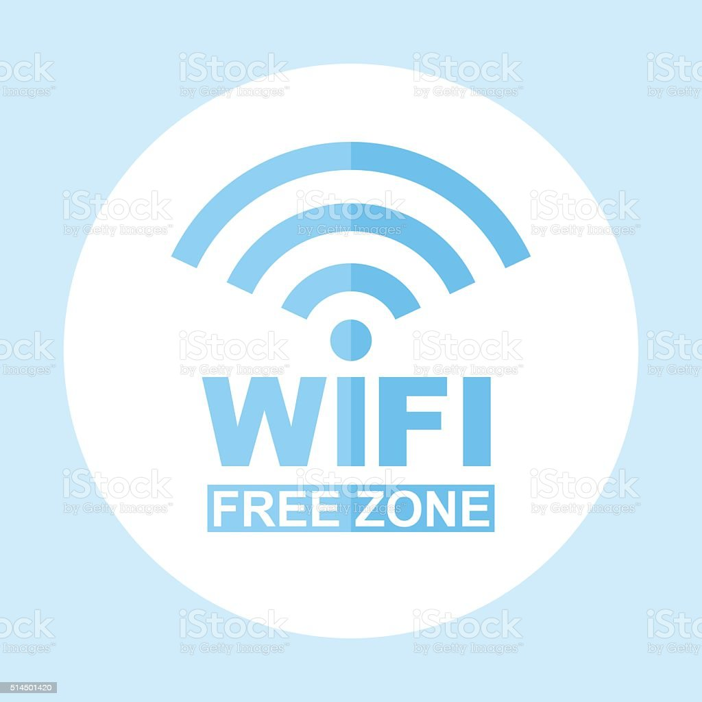 Icon Wi-Fi free zone. Vector sign illustration vector art illustration