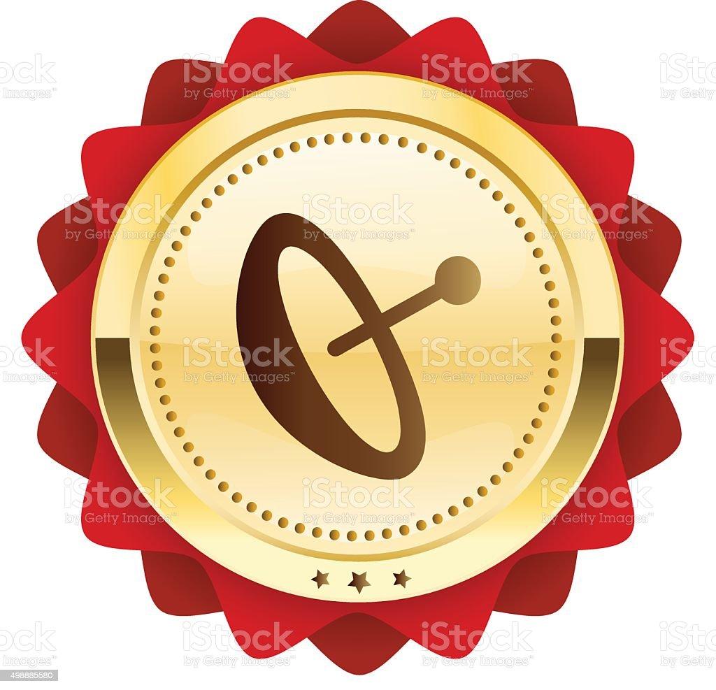 icon with satellite dish symbol vector art illustration