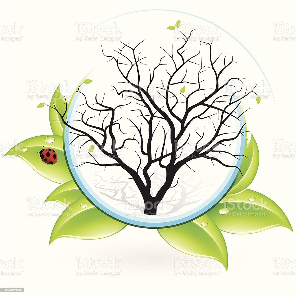 Icon with Tree royalty-free stock vector art