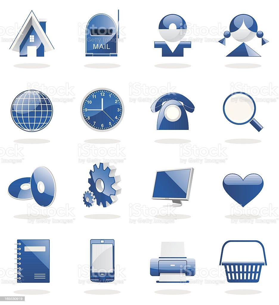 icon(blue)01 royalty-free stock vector art