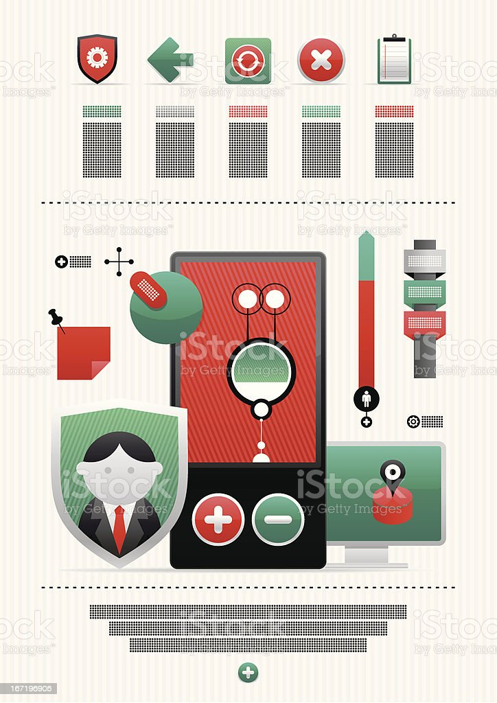 icons and infographics royalty-free stock vector art