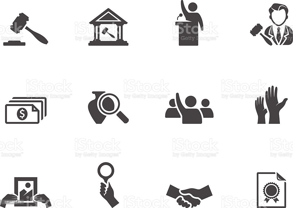 BW Icons - Auction vector art illustration