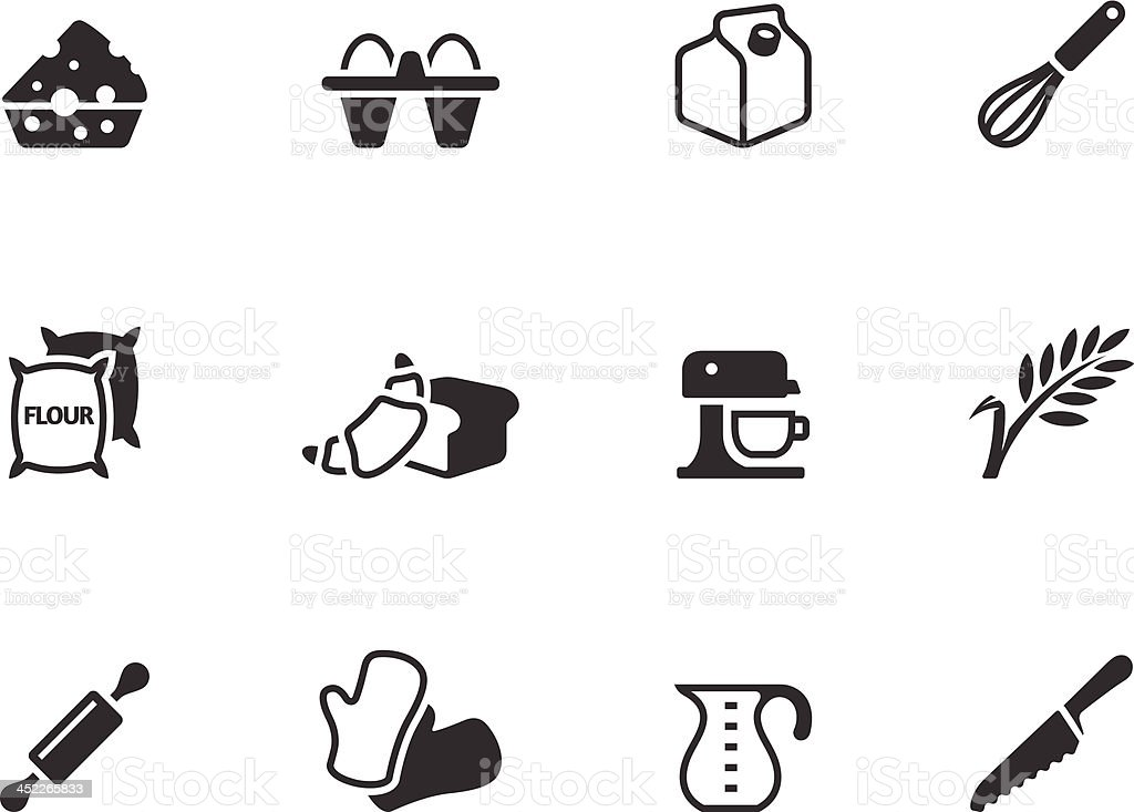BW Icons - Baking vector art illustration