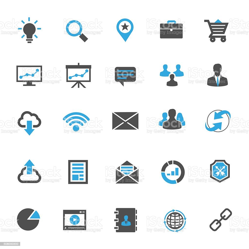 icons business vector art illustration