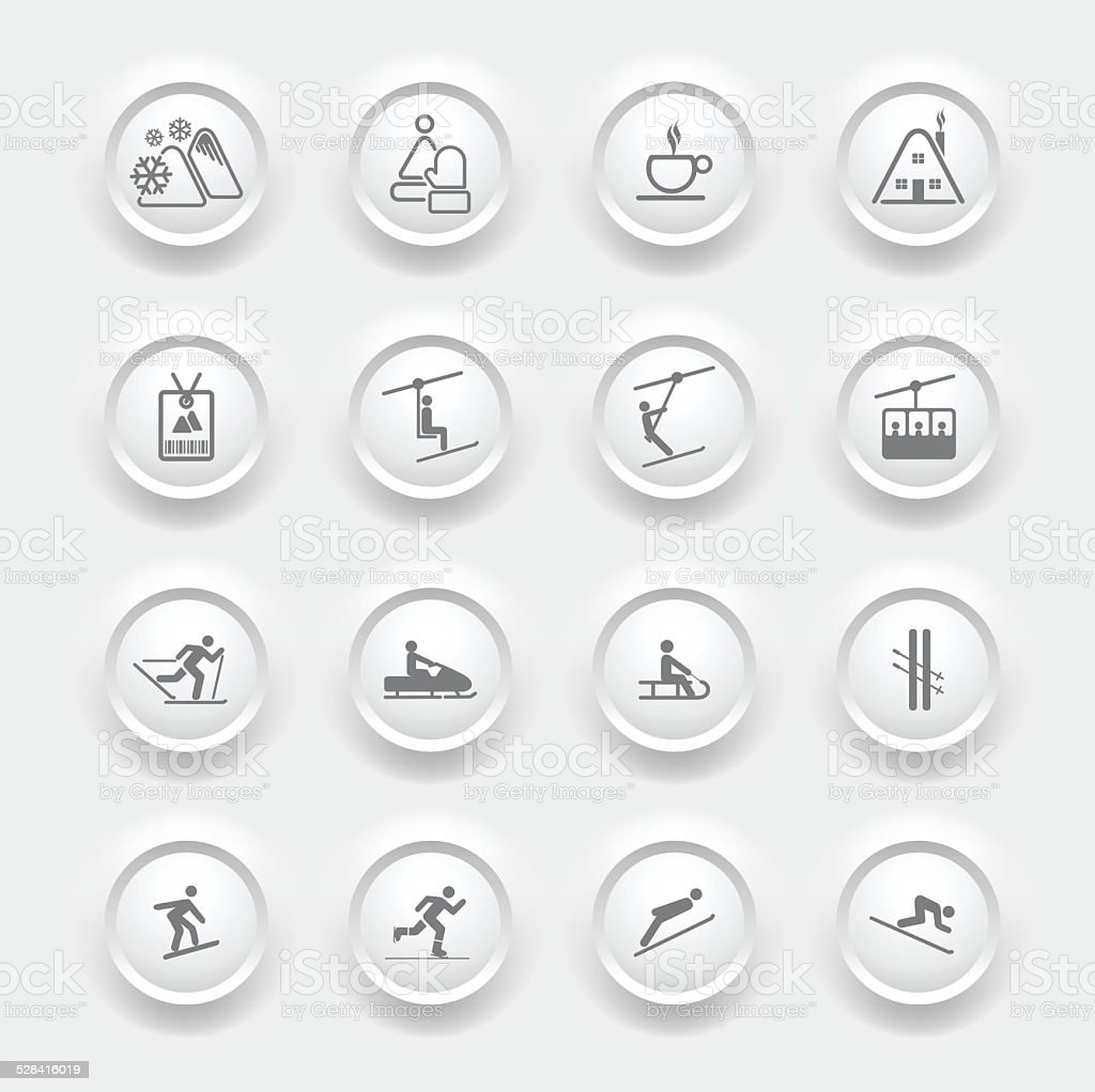 WINTER Icons - Buttons vector art illustration