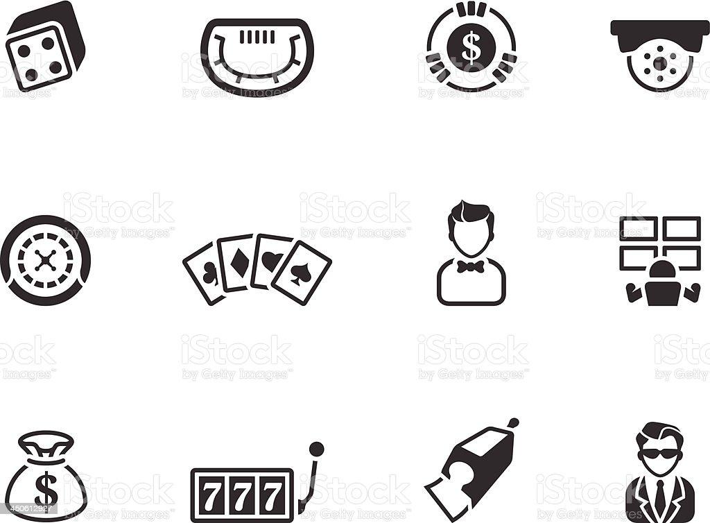 BW Icons - Casino royalty-free stock vector art