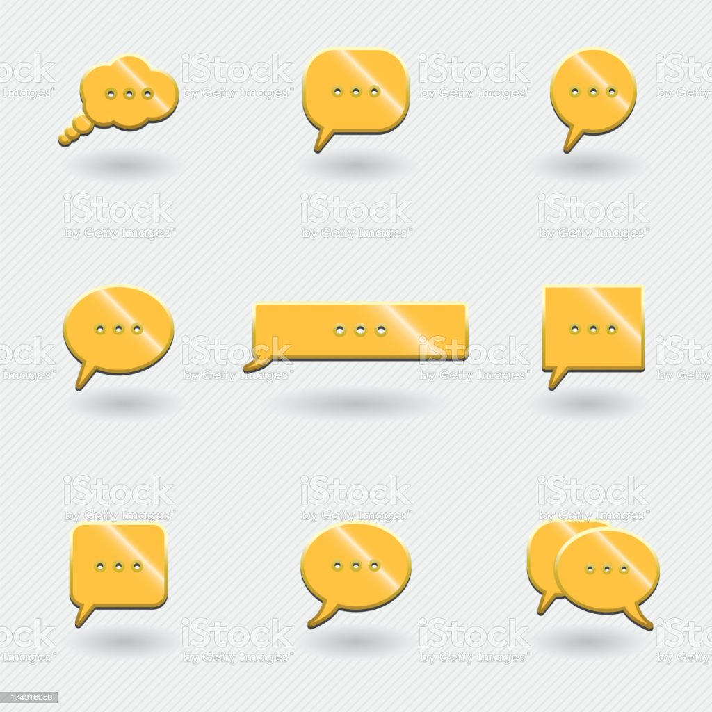 icons chat royalty-free stock vector art