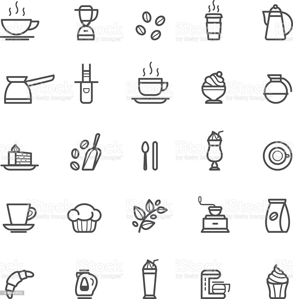 Icons coffee vector art illustration